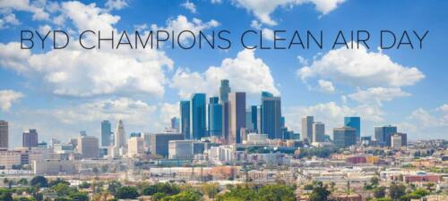 BYD JOINS CALIFORNIA'S CELEBRATION OF CLEAN AIR DAY