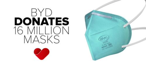 PPE MANUFACTURER BYD MARKS AFRICA MASK WEEK WITH DONATION OF 16 MILLION MASKS TO SUPPORT THE FIGHT AGAINST COVID-19