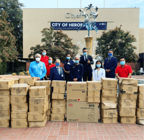 CITY OF HOPE DONATION