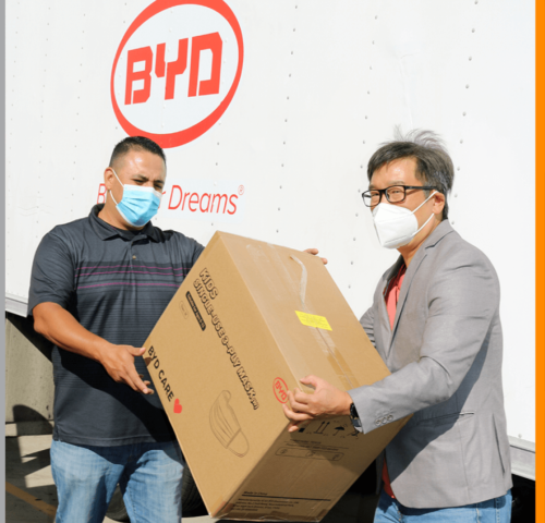 100,000 MASK DONATION TO LAUSD